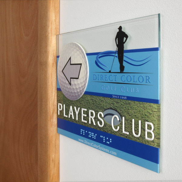 Braille Sign Printing Direct Color Golf Club - Direct Color Systems