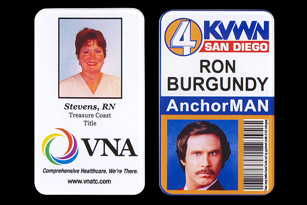 Photo ID Printing Ron Burgundy - Direct Color Systems