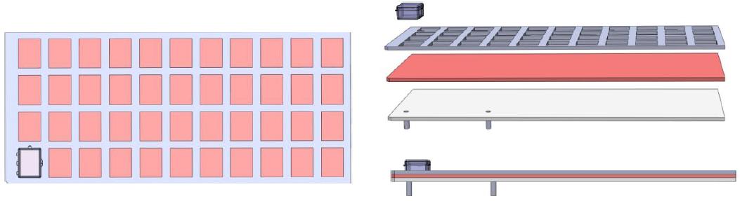 Custom Jig & Fixtures Three Ply Laminated Jigs with Tacky Mat Center - DCS