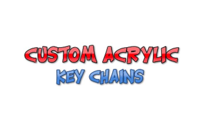 Custom Acrylic Key Chains logo