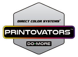 Innovative UV LED Printing - Direct Color Systems Printovators Logo