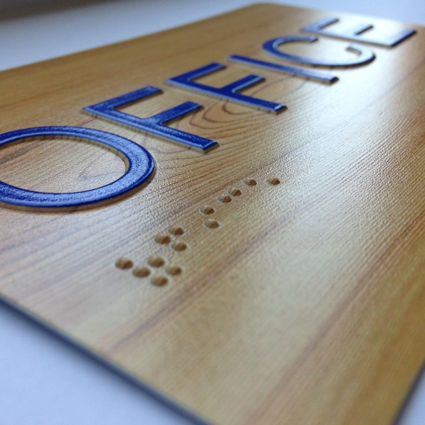 Braille Sign Printing Office - Direct Color Systems