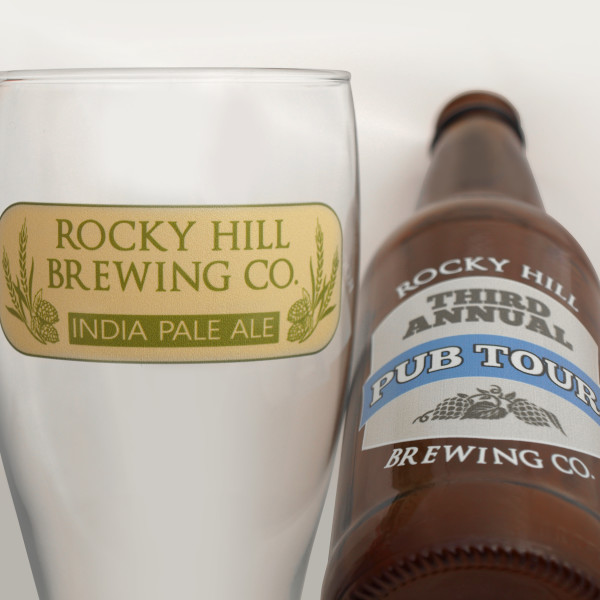 Glass Printing Rocky Hill Brewery - Direct Color Systems