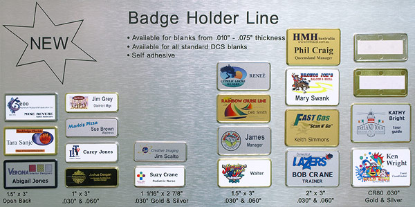 Name Badge Frames - Direct Color Systems
