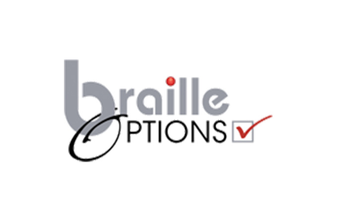 Braille Options logo
