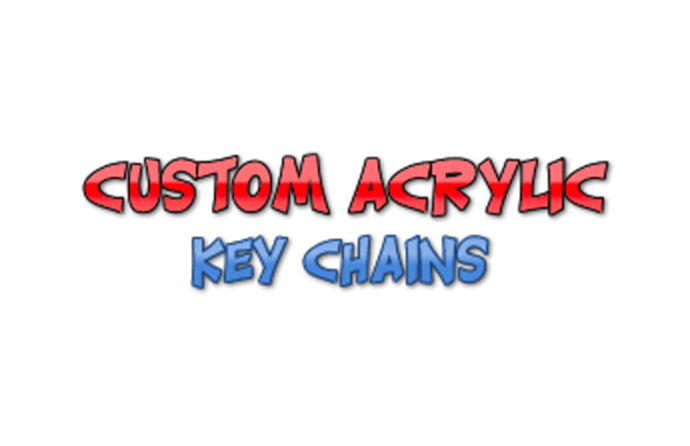 Custom Acrylic Key Chains logo